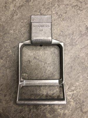Brouwers drukstuk aluminium OP=OP