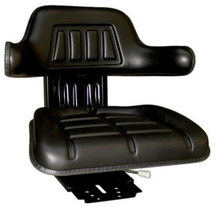 Zitting PVC met lendensteun zwart