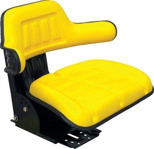 Zitting PVC met lendensteun geel